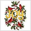 cross stitch pattern Cardinal's Joy