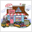 cross stitch pattern Candy Shop
