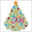 cross stitch pattern Christmas Tree Swirls