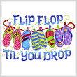 cross stitch pattern Flip Flop til you Drop