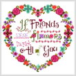 cross stitch pattern Flower Friends