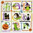 cross stitch pattern Tic Tac Halloween