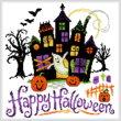 cross stitch pattern Haunted Halloween House