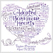 cross stitch pattern Let's Adopt
