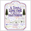 cross stitch pattern Let's Be Old Friends (for the guys)