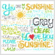 cross stitch pattern Let's Be My Sunshine