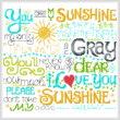 cross stitch pattern Let's Be My Sunshine