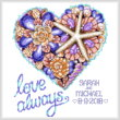 cross stitch pattern Seashell Heart Wedding