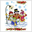 cross stitch pattern Snowman Carolers