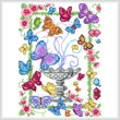 cross stitch pattern Butterfly Garden