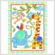 cross stitch pattern Giraffe and Friends