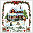 cross stitch pattern Hearts Come Home at Christmas