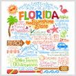 cross stitch pattern Let's Visit Florida