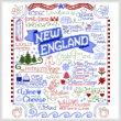 cross stitch pattern Let's Visit New England