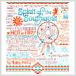 cross stitch pattern Let's Visit the Southwest