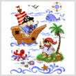cross stitch pattern Little Pirates