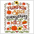 cross stitch pattern Pumpkin Spice