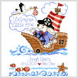 cross stitch pattern Pirate Welcome Birth Record