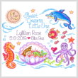 cross stitch pattern Sea Angels Birth Record
