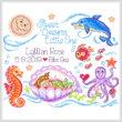cross stitch pattern Sea Angels Birth Record