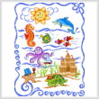 cross stitch pattern Sea Friends