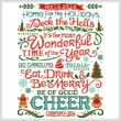 cross stitch pattern A Wonderful Time of the Year