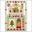 cross stitch pattern Christmas Sampler