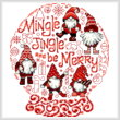 cross stitch pattern Let's Mingle and Jingle