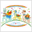 cross stitch pattern Llama Family birth record