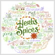 cross stitch pattern Let's Grow Herbs and Spices