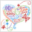 cross stitch pattern Let's Live Laugh Love