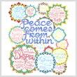 cross stitch pattern Let's be Mindful