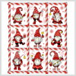 cross stitch pattern Mingle Jingle Zoom Gnomes