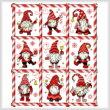 cross stitch pattern Mingle Jingle Zoom Gnomes