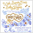 cross stitch pattern Salty Kisses Wedding