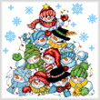cross stitch pattern Snowman Stack