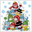 cross stitch pattern Snowman Stack