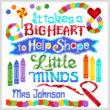 cross stitch pattern Teachers Have a Big Heart
