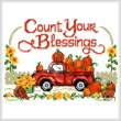 cross stitch pattern Count Your Blessings Truck