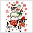 cross stitch pattern Holiday Farm Animals