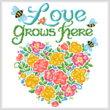 cross stitch pattern Love Grows Here
