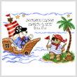 cross stitch pattern Pirate Voyage Birth Record