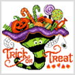 cross stitch pattern Witch Hat Treats