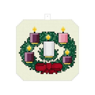 cross stitch pattern Advent Wreath Ornament