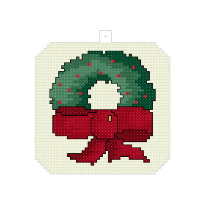 cross stitch pattern Christmas Wreath Ornament