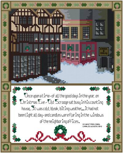 cross stitch pattern A Dickens Christmas