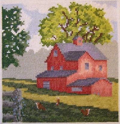 cross stitch pattern Country Morning