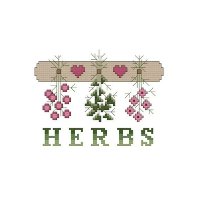 cross stitch pattern Herbs