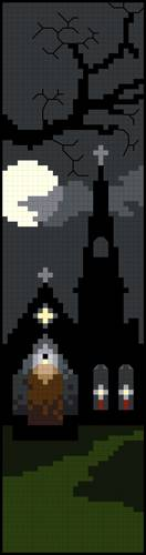 cross stitch pattern Hunter's Moon
