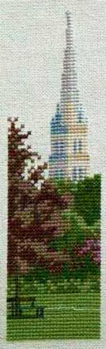 cross stitch pattern Salisbury Spire